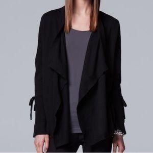 NWT Simply Vera Wang Black Cardigan Sweater